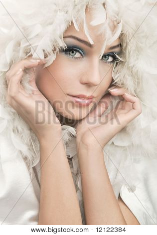 Beauty portrait of a female model