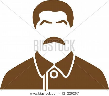 USSR - circa 1945:Vector portrait of Joseph Stalin. Soviet Union leader.