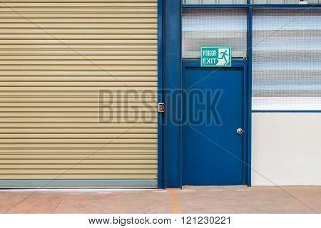 Steel exit door