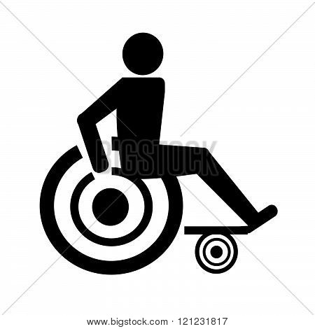 an images of Disabled Handicap Icon Illustration design