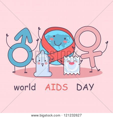 World Aids Day With Condom