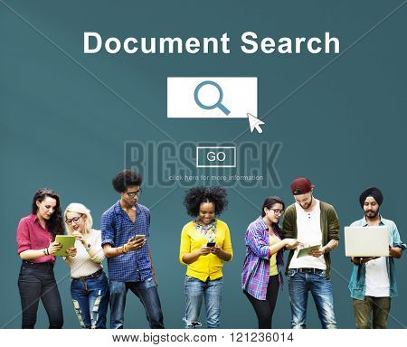 Document Search Finding Forms Inspect Letters Concept