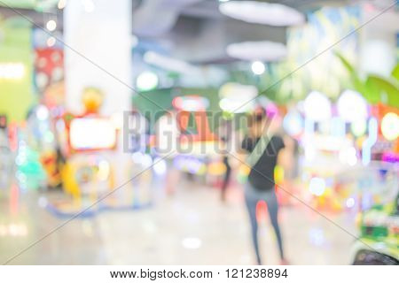 Blur Picture Of Game Arcade
