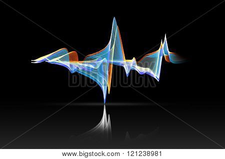 Colorful Sound Wave With Reflex