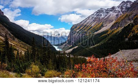 View of Lake Louise from the Trail to the Plain of Six Glaciers
