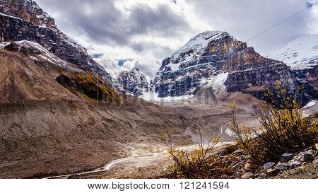 View of Mount Lefroy from the Trail to the Plain of Six Glaciers