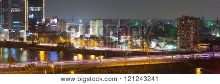 Cairo Traffic Light Trails