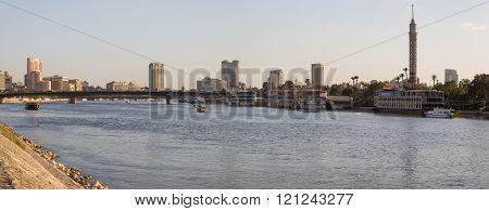 Nile River And Zamalek Island