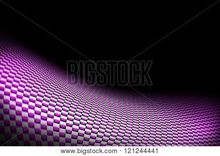 Purple Curve Carbon Fiber