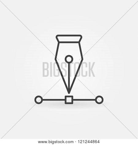 Pen tool icon