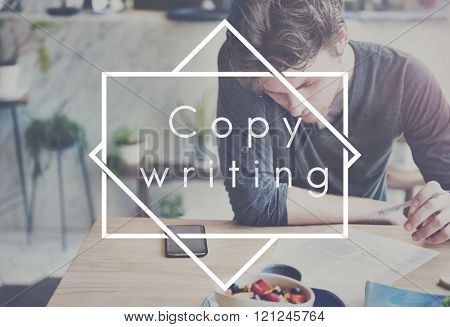 Copywriting Skills Working Writing Concept