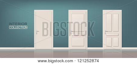Wooden Door Set