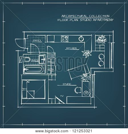 Blueprint. Studio Apartment