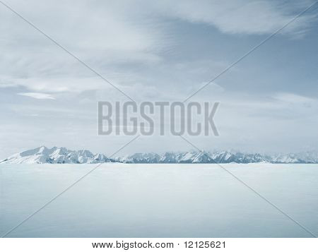 Beautiful winter background , lots of copy-space