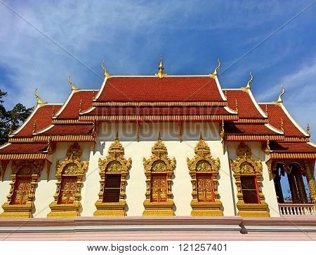 Thai temple art and architecture. Although there are many differences in layout and style, they all adhere to the same principles.
