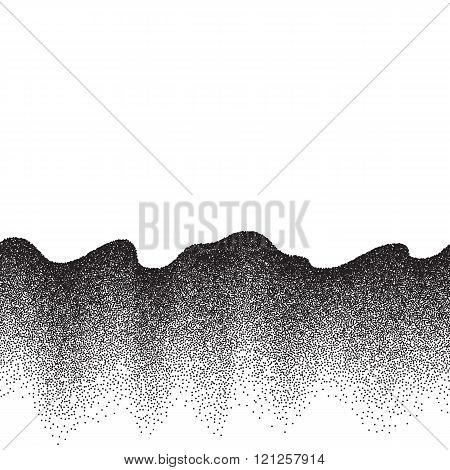 Abstract background with wave of scattered dots