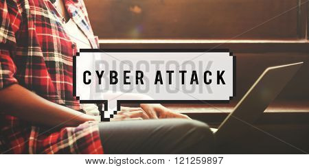 Cyber Attack Spam Hacker Malware Internet Online Concept