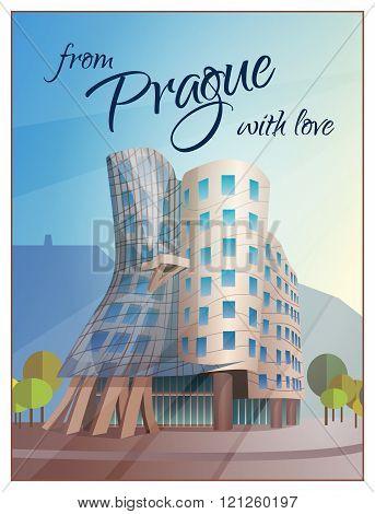 Dancing House Building Prague Poster