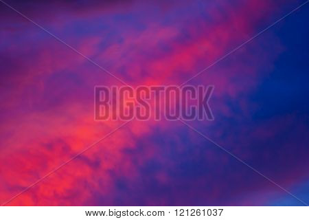 Bright Colors In Dramatic Sky