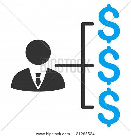 Banker Payments Flat Vector Icon