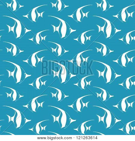Seamless pattern with pennant fish.