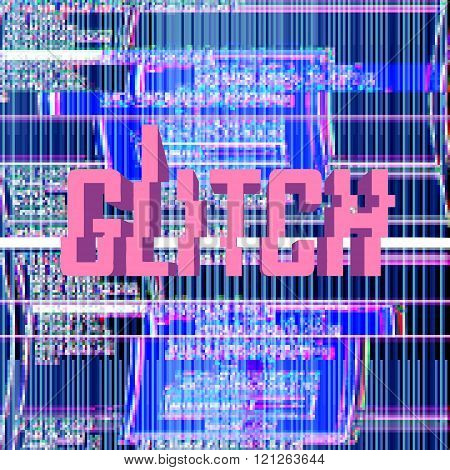 glitch digital background