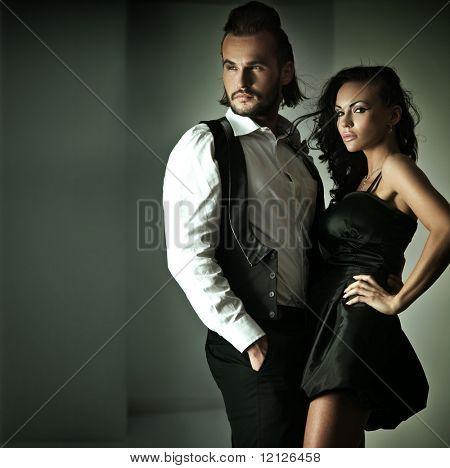 Foto de estilo de moda de um casal bonito