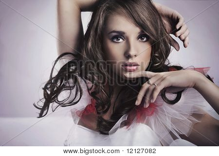 Portrait of a beauty brunette