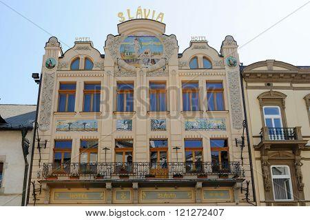 Slavia Art Nouveau Facade