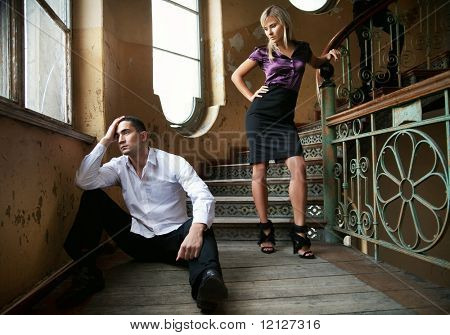 Young couple in separation