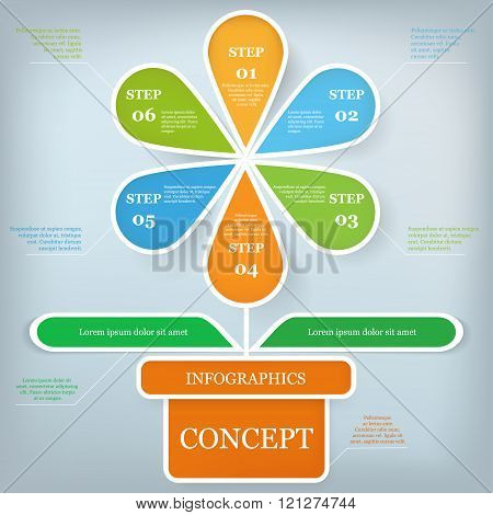 Infographic design template and business concept