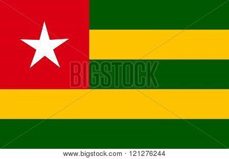 Togo Flag.