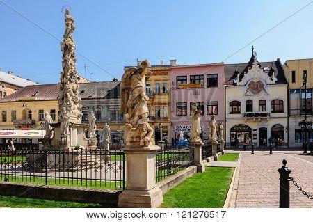 Plague Column Monument And Beggar's House