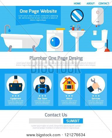 Plumber Service One Page Website Design