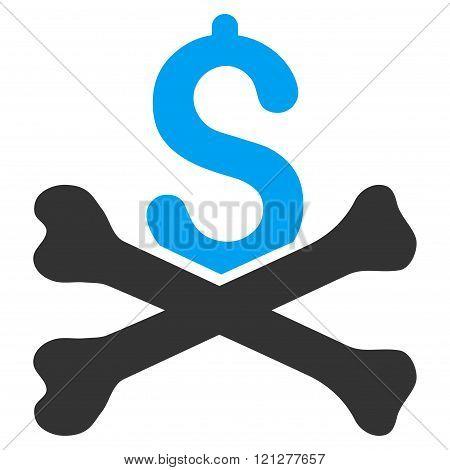 Mortal Debt Flat Glyph Icon