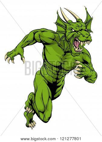 Dragon Mascot Sprinting