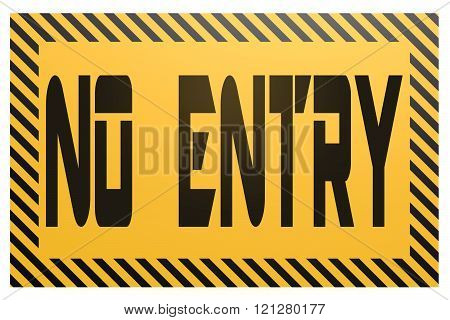 Banner With No Entry Word