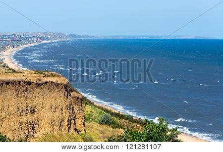 The gulf on the Sea of Azov