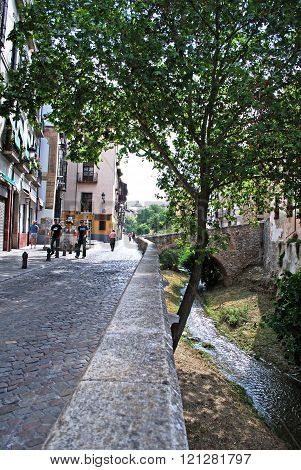 Carrera del Darro in the Albaicin, Granada.