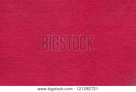 Red Color Leather Texture