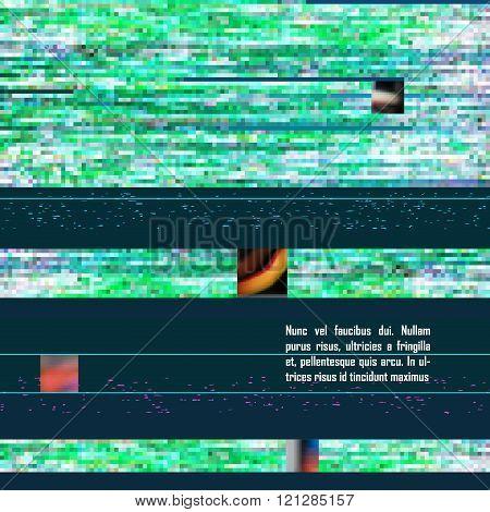 green screen glitch