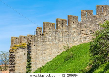 Old Brickwall Background, Carcassonne