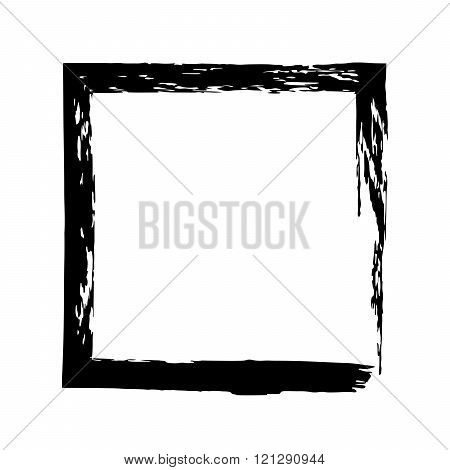 Frame square ink grunge background