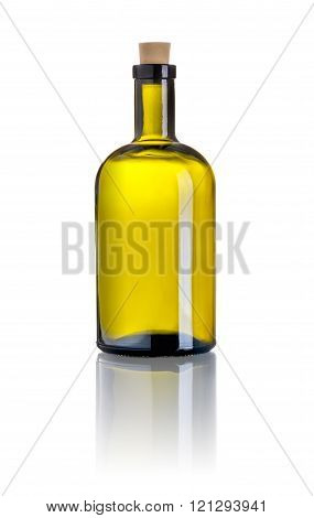A Brown Liquor Bottle On A White Background