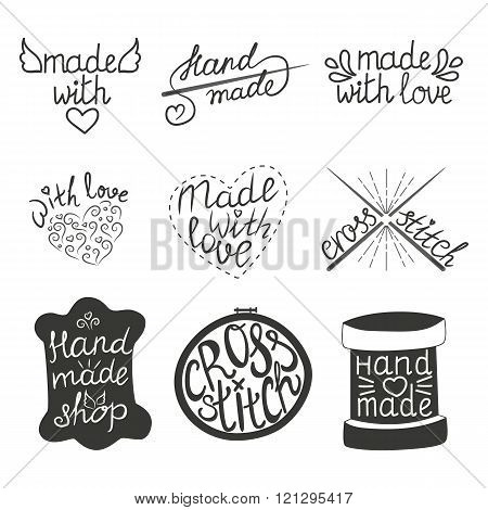 Set Of Vintage Hand Made Logotypes