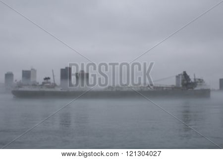 Freighter in the Fog