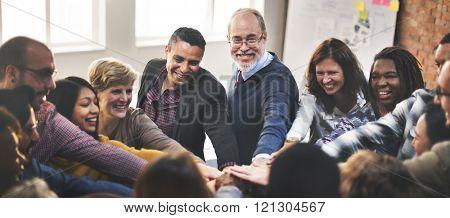 Team Teamwork Join Hands Partnership Concept