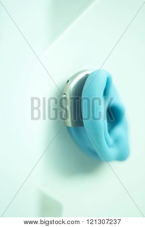Hearing Aid On Prosthetic Ear
