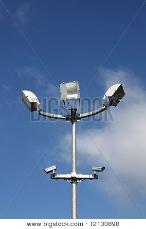 Security Lights And Surveillance Cameras