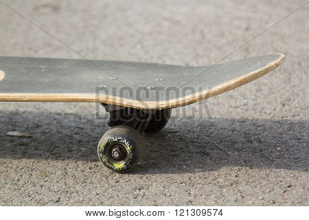 skateboard on the pavement